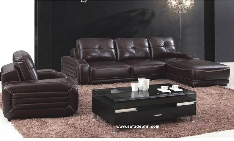 Sofa da cao cấp cho phòng khách
