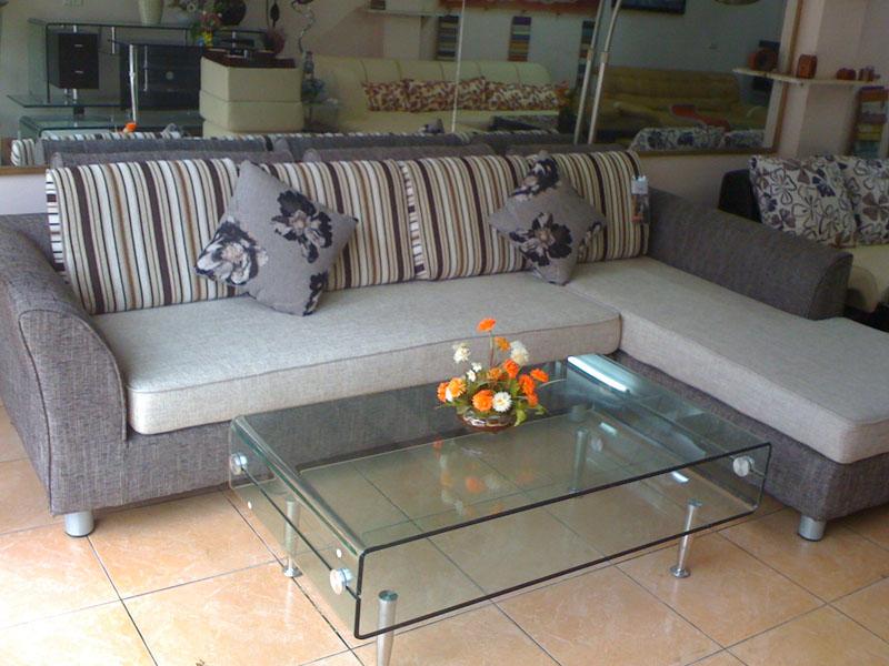 Sofa nỉ góc cỏ may SFN023